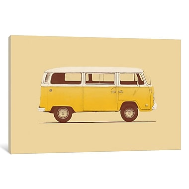 East Urban Home 'Yellow Van' Painting Print on Wrapped Canvas; 8'' H x 12'' W x 0.75'' D
