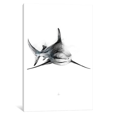 East Urban Home 'Shark II' Painting Print on Wrapped Canvas; 40'' H x 26'' W x 0.75'' D