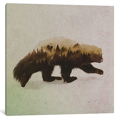 East Urban Home 'Wolverine II' Graphic Art on Wrapped Canvas; 37'' H x 37'' W x 1.5'' D
