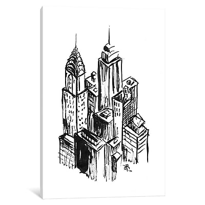 East Urban Home 'New York II' Painting on Wrapped Canvas; 26'' H x 18'' W x 0.75'' D