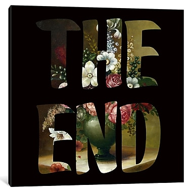 East Urban Home 'The END' Graphic Art on Wrapped Canvas; 12'' H x 12'' W x 0.75'' D