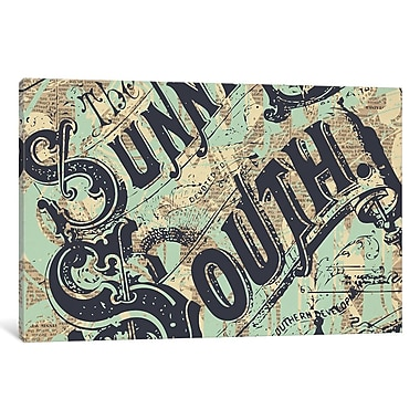 East Urban Home 'Sunny South' Textual Art on Wrapped Canvas; 12'' H x 18'' W x 0.75'' D