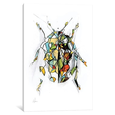 East Urban Home 'Ladybird' Graphic Art on Wrapped Canvas; 40'' H x 26'' W x 1.5'' D