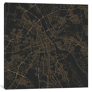 East Urban Home 'Warsaw Roadway' Graphic Art on Wrapped Canvas; 26'' H x 26'' W x 1.5'' D