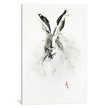 East Urban Home 'Mr. Rabbit' Painting Print on Wrapped Canvas; 18'' H x 12'' W x 0.75'' D