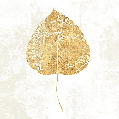East Urban Home 'Bronzed Leaf II' Graphic Art on Wrapped Canvas; 37'' H x 37'' W x 1.5'' D