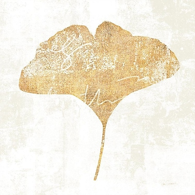 East Urban Home 'Bronzed Leaf III' Graphic Art on Wrapped Canvas; 37'' H x 37'' W x 1.5'' D