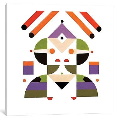 East Urban Home 'Abstract Girl' Graphic Art on Wrapped Canvas; 26'' H x 26'' W x 0.75'' D