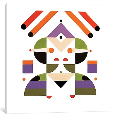 East Urban Home 'Abstract Girl' Graphic Art on Wrapped Canvas; 12'' H x 12'' W x 0.75'' D