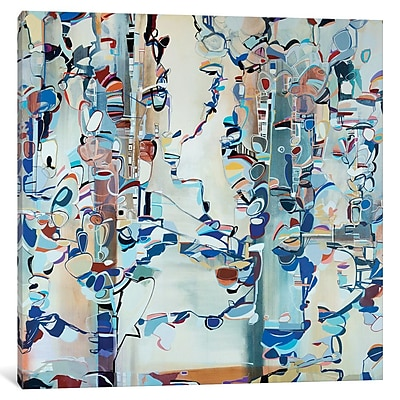 East Urban Home 'Ribbons II' Graphic Art on Wrapped Canvas; 12'' H x 12'' W x 1.5'' D