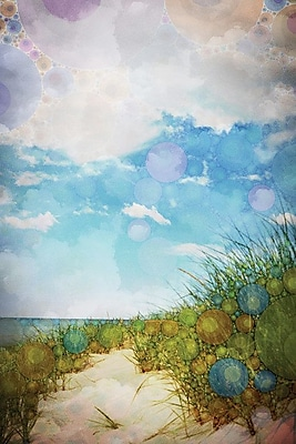 East Urban Home Beach by Olivia Joy Graphic Art on Wrapped Canvas; 40'' H x 26'' W x 1.5'' D