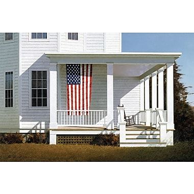 East Urban Home Porch IV Photographic Print on Wrapped Canvas; 26'' H x 40'' W x 1.5'' D