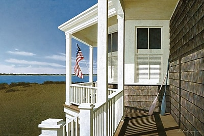 East Urban Home Porch View I Photographic Print on Wrapped Canvas; 26'' H x 40'' W x 1.5'' D