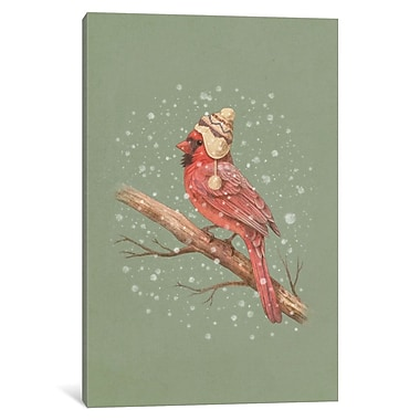 East Urban Home 'First Snow Portrait' Graphic Art on Wrapped Canvas; 40'' H x 26'' W x 0.75'' D