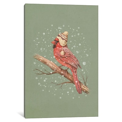 East Urban Home 'First Snow Portrait' Graphic Art on Wrapped Canvas; 26'' H x 18'' W x 1.5'' D