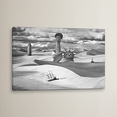 East Urban Home 'Poor Navigation' Graphic Art on Wrapped Canvas; 18' H x 26'' W x 0.75'' D