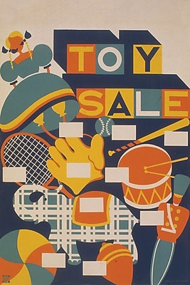 East Urban Home 'Toy Sale' Graphic Art on Wrapped Canvas; 26'' H x 18'' W x 1.5'' D