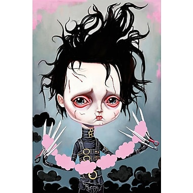East Urban Home 'Edward Scissorhands' Painting Print on Wrapped Canvas; 26'' H x 18'' W x 0.75'' D
