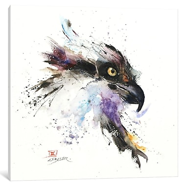 East Urban Home 'Eagle II' Painting Print on Wrapped Canvas; 12'' H x 12'' W x 1.5'' D