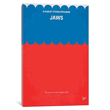 East Urban Home 'Jaws Minimal Movie Poster' Vintage Advertisement on Wrapped Canvas