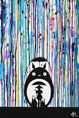 East Urban Home 'Neighbours' Painting Print on Wrapped Canvas; 40'' H x 26'' W x 0.75'' D
