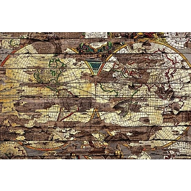 East Urban Home 'Secret Map' Graphic Art on Wrapped Canvas; 18'' H x 26'' W x 1.5'' D