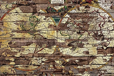 East Urban Home 'Secret Map' Graphic Art on Wrapped Canvas; 18'' H x 26'' W x 0.75'' D