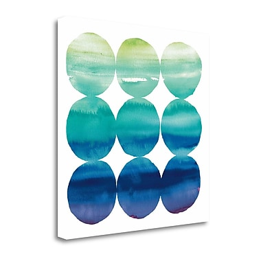 Tangletown Fine Art 'Summer Dots III' Graphic Art Print on Canvas; 20'' H x 20'' W