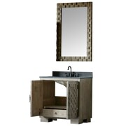 Bungalow Rose Claris 36'' Single Bathroom Vanity Set w/ Mirror