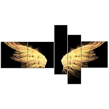 East Urban Home 'Hell Gold Wings' Graphic Art Print Multi-Piece Image on Canvas