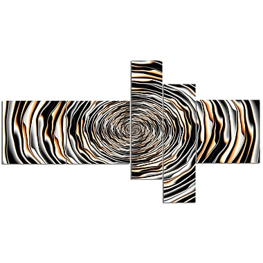 East Urban Home 'Fractal Rotating Abstract Design' Graphic Art Print Multi-Piece Image on Canvas