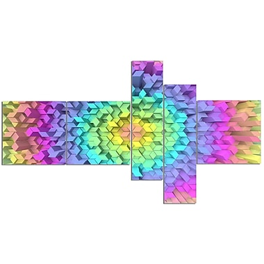East Urban Home 'View of Colorful Geometric Shapes' Graphic Art Print Multi-Piece Image on Canvas