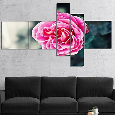 East Urban Home 'Red Rose in Vintage Style' Photographic Print Multi-Piece Image on Canvas