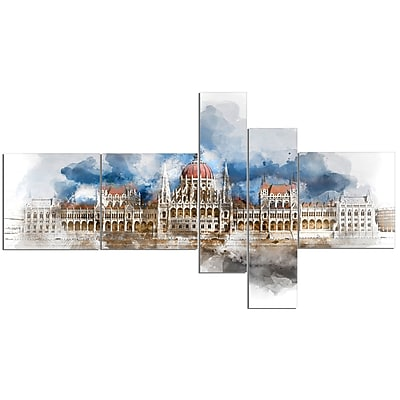 East Urban Home 'Hungarian Parliament Building' Print Multi-Piece Image on Canvas