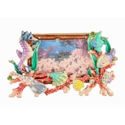 Highland Dunes Mini Sea Life Picture Frame; Brown