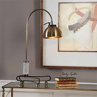Everly Quinn Suzi Plated Arch 29'' Desk Lamp