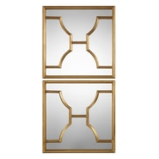 Everly Quinn 2 Piece Transitional Square Accent Mirror Set (Set of 2)