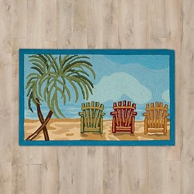 Highland Dunes Estelle Beach Chairs Area Rug