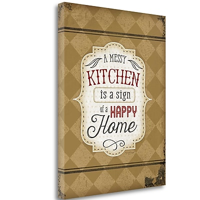 Tangletown Fine Art 'A Messy Kitchen' Textual Art on Canvas; 23'' H x 18'' W