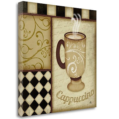 Tangletown Fine Art 'Cappuccino' Graphic Art Print on Canvas; 24'' H x 24'' W