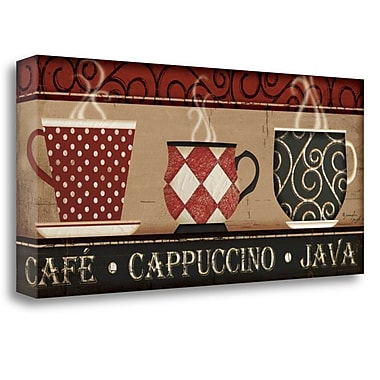 Tangletown Fine Art 'Cappuccino Caf ' Graphic Art Print on Canvas; 16'' H x 36'' W