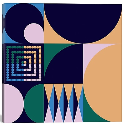 East Urban Home 'Geo IV' Graphic Art on Canvas; 12'' H x 12'' W x 1.5'' D