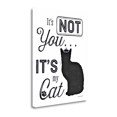 Tangletown Fine Art 'It's Not You - It's My Cat' Textual Art on Canvas; 23'' H x 18'' W