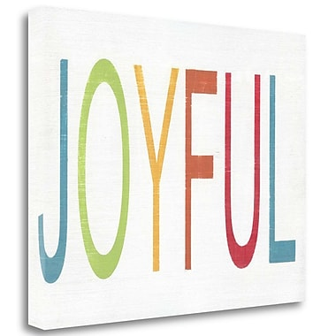 Tangletown Fine Art 'Joyful' Textual Art on Canvas; 21'' H x 26'' W