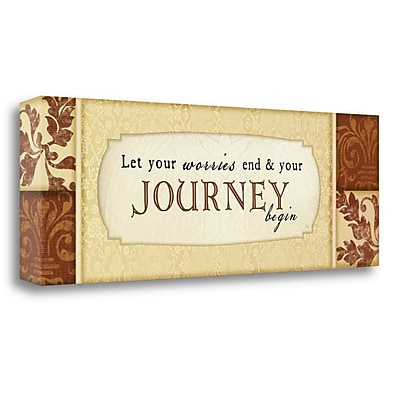 Tangletown Fine Art 'Journey Begins' Textual Art on Canvas; 13'' H x 39'' W