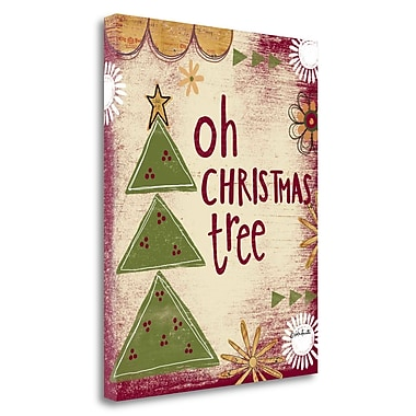 Tangletown Fine Art 'Oh Christmas Tree' Textual Art on Canvas; 32'' H x 26'' W