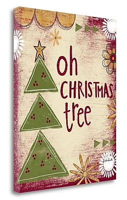 Tangletown Fine Art 'Oh Christmas Tree' Textual Art on Canvas; 20'' H x 16'' W
