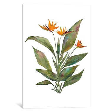 East Urban Home 'Bright Bromeliad' Painting Print on Wrapped Canvas; 18'' H x 12'' W x 1.5'' D