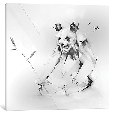 East Urban Home 'Bad Panda' Painting Print on Wrapped Canvas; 18'' H x 18'' W x 0.75'' D