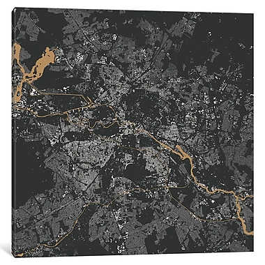 East Urban Home 'Berlin' Horizontal Graphic Art on Wrapped Canvas; 18'' H x 18'' W x 1.5'' D